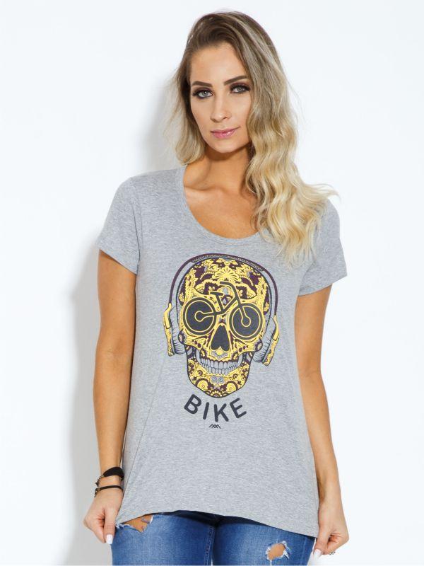 T-shirt Bike Caveira